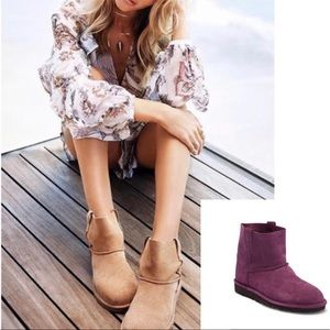 •nwt• PURPLE Ugg classic unlined short boots